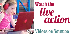 Watch the live action — videos on Youtube