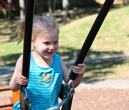 Calista on the swing, September 2011