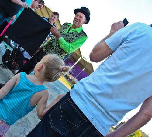 Magician at the Beenleigh Show, September 2011