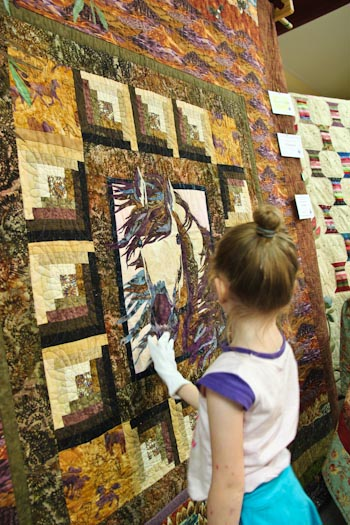 Prize quilt at the Beenleigh Show, September 2011