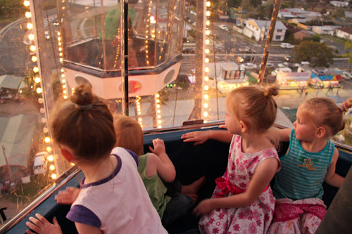 On the ferris wheel at the Beenleigh Show, September 2011
