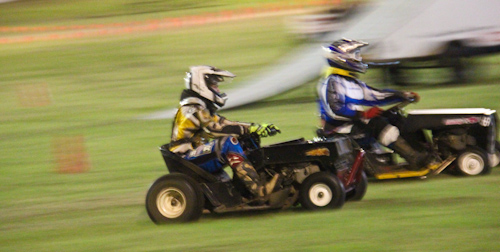 Lawn mower racing at the Beenleigh Show, September 2011