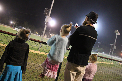 Watching the events in the arena at the Beenleigh Show, September 2011