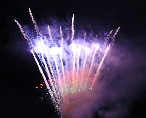 Fireworks at the Beenleigh Show, September 2011