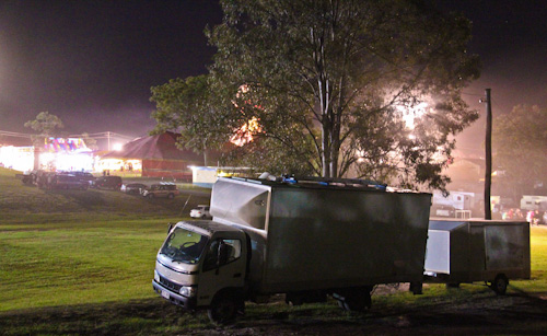 Camping at the Beenleigh Showgrounds, September 2011