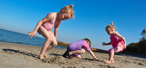 Girls on the beach, September 2011