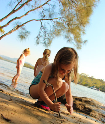 Playing at the Maroochy River, September 2011