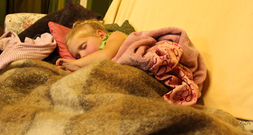Calista asleep, October 2011
