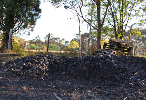 Coal pile at Clarence House, October 2011