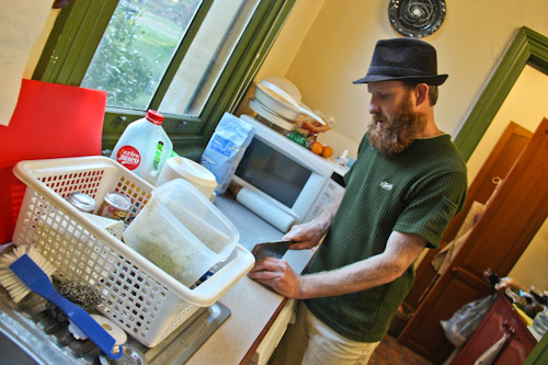 David in the kitchen at Clarence, October 2011