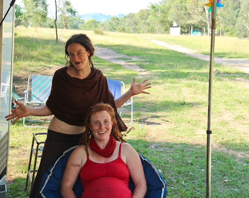 Nicole and Lauren, Rainbow Gathering, November 2011