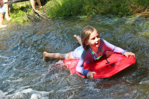 Riding the rapids, Rainbow Gathering, November 2011