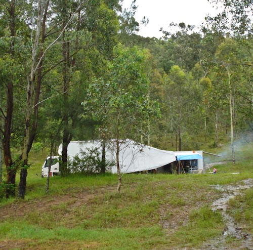 Camped at Glendon Brook, November 2011