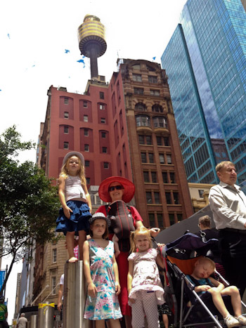 Sydney Tower in the background, January 2012