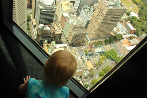 Delaney at the top of the City Tower, January 2012