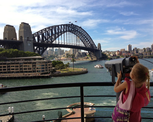 Brioni looking over Sydney Harbour, February 2012