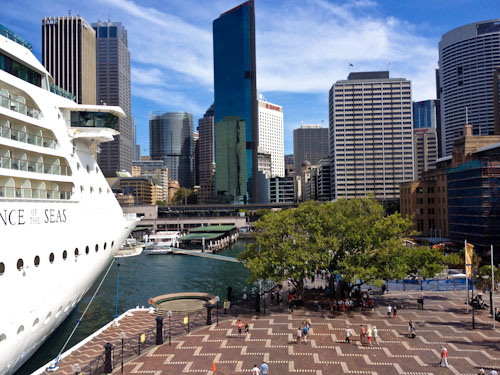 Cruise ship at Circular Quay, February 2012