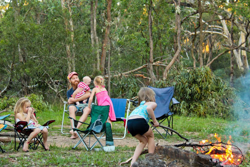 Camping at Megalong Valley, February 2012