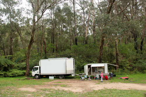 Camping at Glen Reserve, February 2012