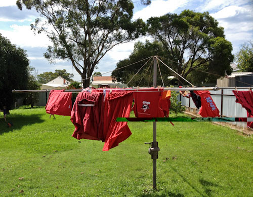 Washing on the line, February 2012