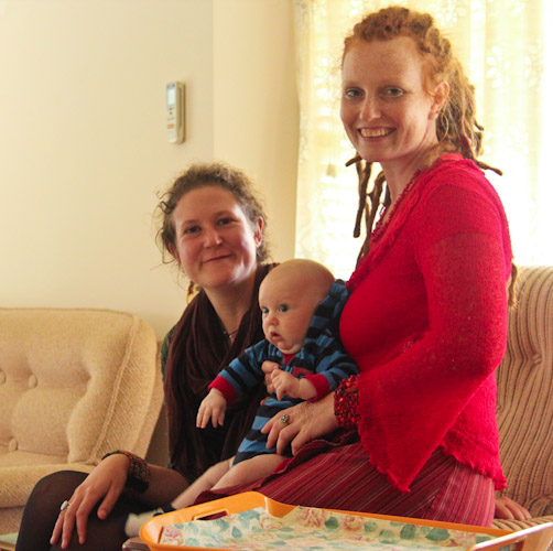 Rebecca, Lauren & Elijah, 3 months old, March 2012