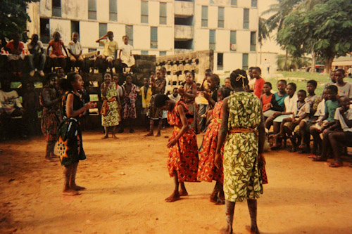 Girls dancing in Cocody, circa 1988