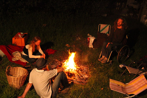 Around the campfire, April 2012