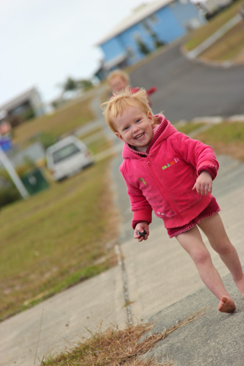 Delaney running, May 2012