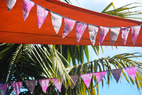 Party bunting hanging, May 2012