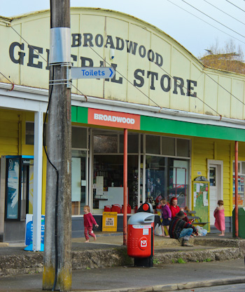 Outside Broadwood General Store, May 2012