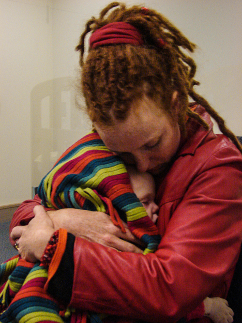 Holding my dead son, Elijah Rainbow, June 2012