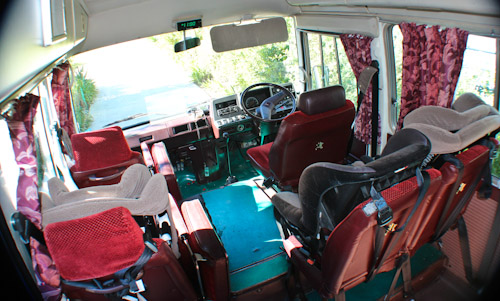 Inside our little red bus — The Gifted Gypsy, July 2012