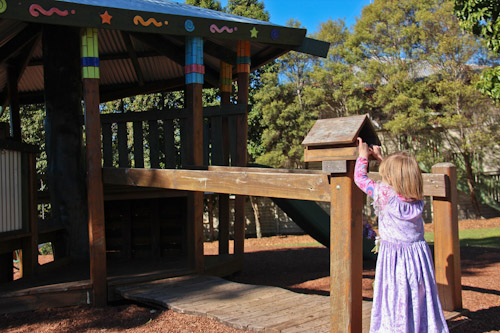 Playing at the Maleny playground, August 2012