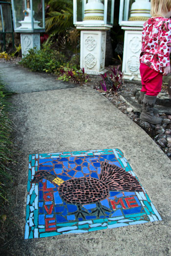 Mosaic on a pathway, August 2012