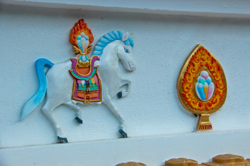 Wind horse on stupa at Chenrezig Institute, August 2012