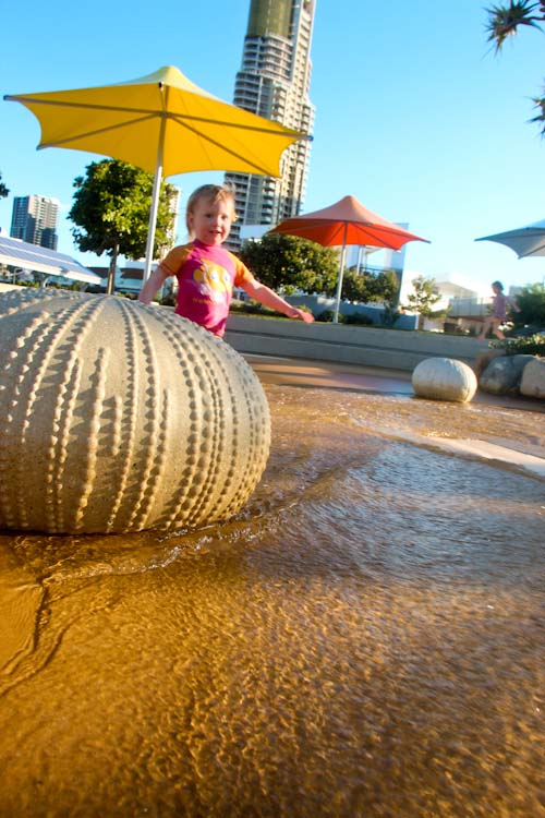 Delaney at Rockpools playground, Broadwater Parklands, Southport, August 2012