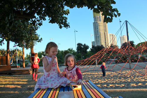 At the playground, Broadwater Parklands, August 2012