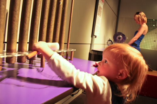 Playing at the Sciencentre, Queensland Museum, South Bank, August 2012