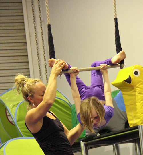 Aisha and Brioni at the Aerial Angels Academy, August 2012