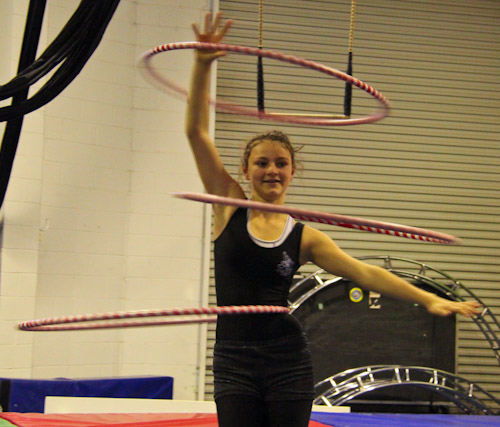 T'La hooping at Aerial Angels Academy, August 2012