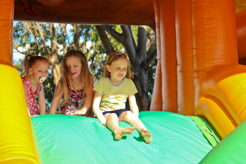 Aisha on the jumping castle, Kingaroy, September 2012
