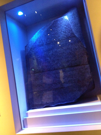 Rosetta Stone, Queensland Museum, September 2012