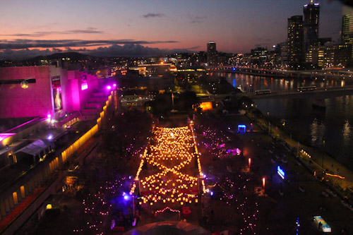 Brisbane Festival lights from the Wheel of Brisbane, South Bank, September 2012