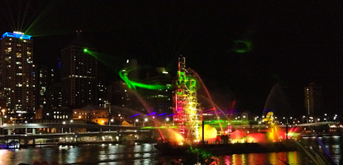 Brisbane Festival Santos City of Light show, South Bank, Septmeber 2012