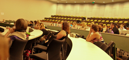 Attending the screening of Freedom for Birth, UQ, Ipswich, September 2012