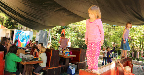 Open homeschooling day in Nimbin, October 2012