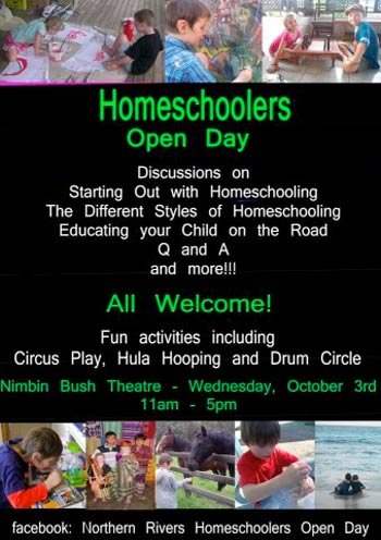 Homeschoolers Open Day in Nimbin, October 2012