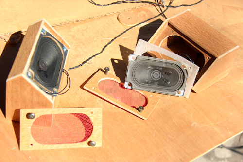 Small handmade speakers, October 2012
