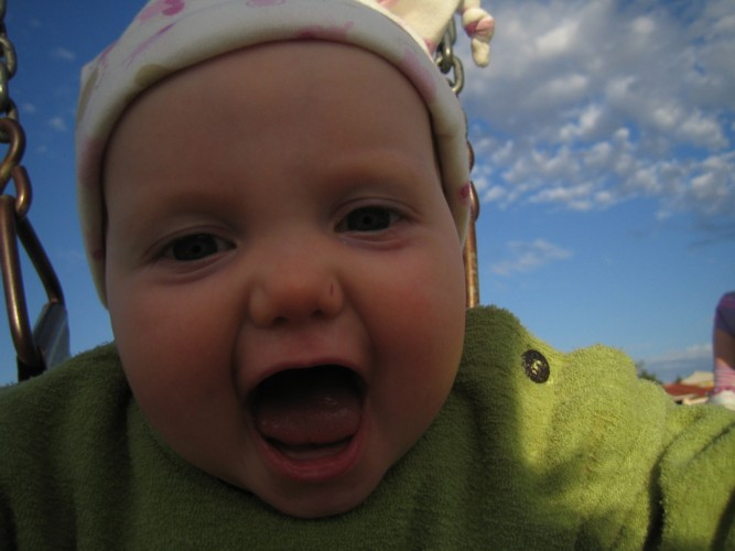 Aïcha, 7 months old, September 2005, in Perth