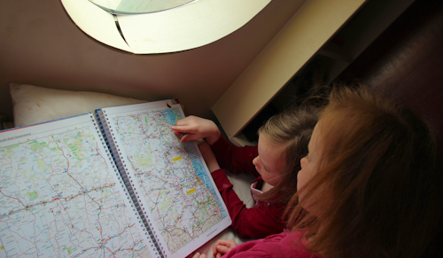 Looking at a map, November 2012
